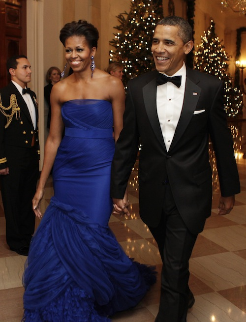 Michelle Obama in Vera Wang a Kennedy Center Honors - Foto Reuters
