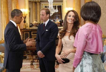 Barack e Michelle Obama con William e Kate