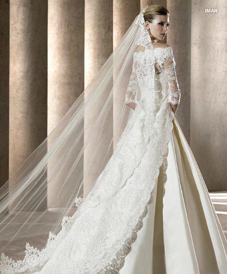 Pronovias abito da sposa e velo Iman Manuel Mota 2012