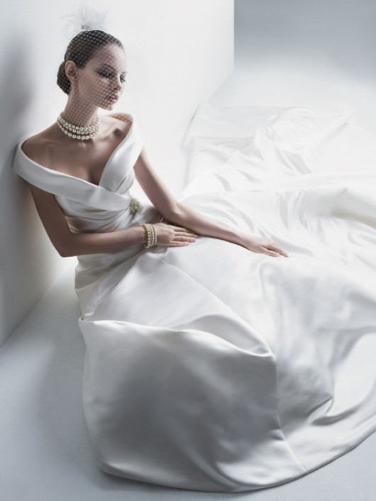 abito da sposa Cassini off the shoulder