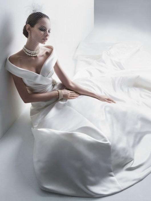 abito da sposa Cassini off the shoulder