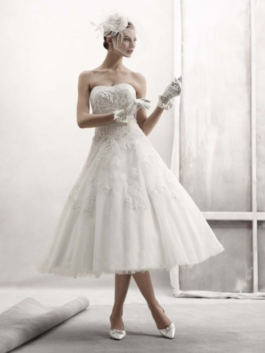 abito da sposa cassini tea length