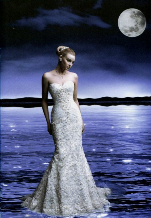 Abito da sposa Cassini a sirena in vendita da David's Bridal a 750 dollari