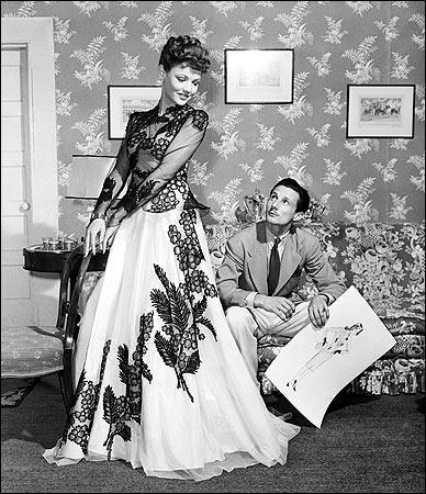 Cassini con l'attrice e moglie Gene Tierney nel 1941