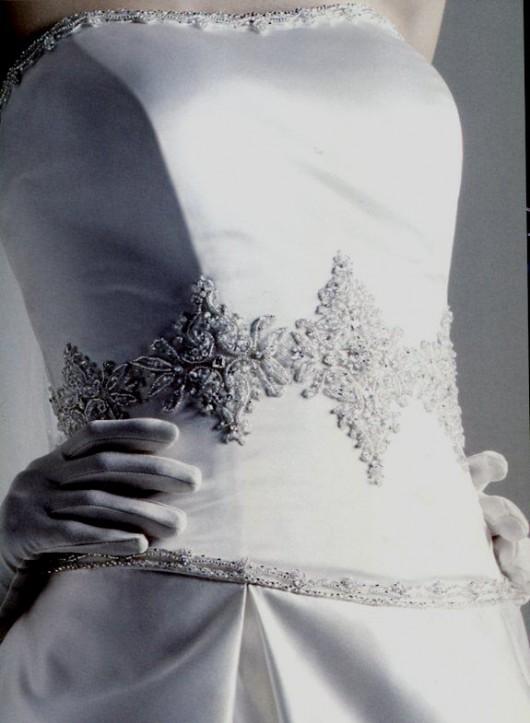 Dettaglio corpetto abito da sposa Oleg Cassini