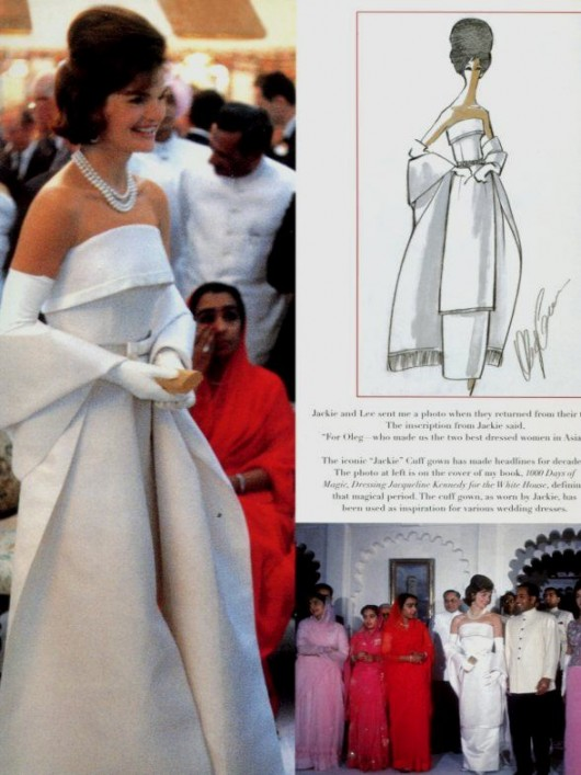 Jackie Kennedy con abito cuff dress by Cassini