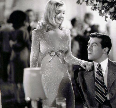 "Veronika Lake in abito Cassini e Ray Milland in ""I wanted wings"""