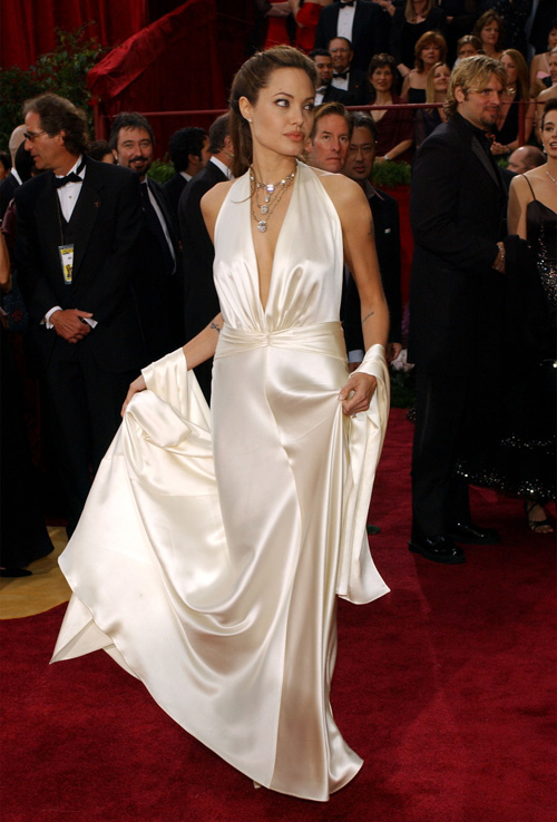 Angelina Jolie agli OScar 2004 - Foto Abaca Press via Newscom