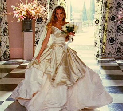 Sex and the city The Movie -Carrie Bradshaw in abito da sposa Vivienne Westwood