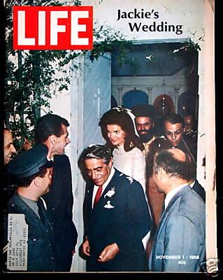 Copertina Life 1.11.1968 nozze tra Onassis e Jackie Kennedy