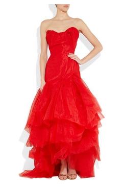 Abito da sposa rosso Vivienne Westwood in vendita su netaporter.com