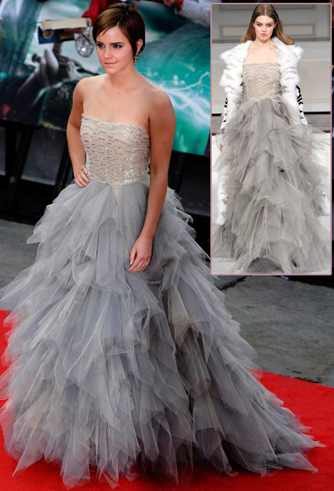 Emma Watson in Oscar de la Renta premiere Harry POtter 2011 - foto da stylefrizz.com