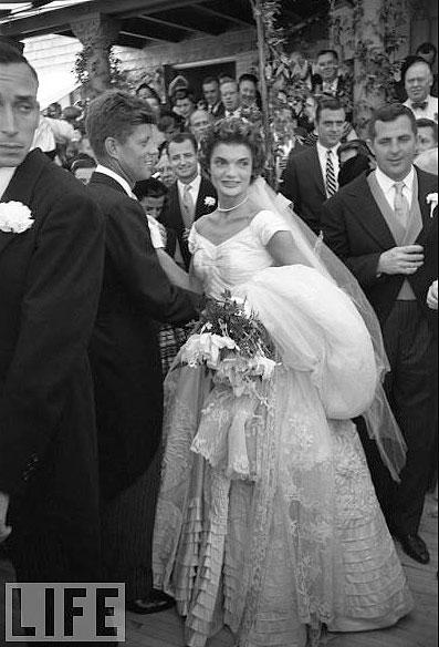 Nozze tra JFK  e Jackie Bouvier - foto Life