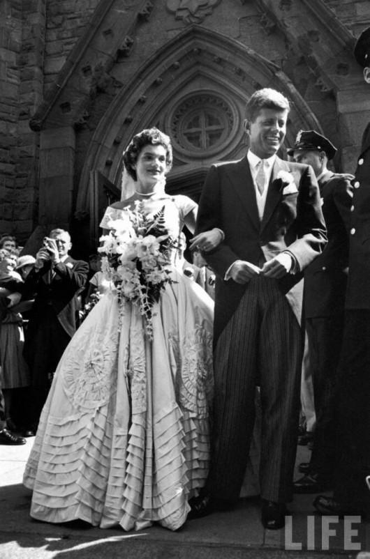 Nozze tra John Fitzgerald Kennedy e Jackline Bouvier - foto Life