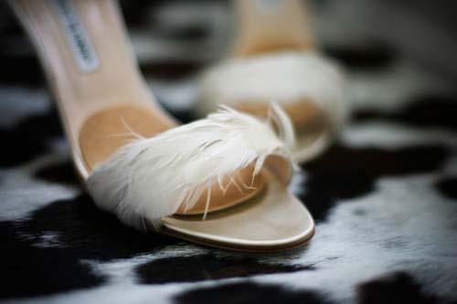 Sandali da sposa Manolo Blahnik