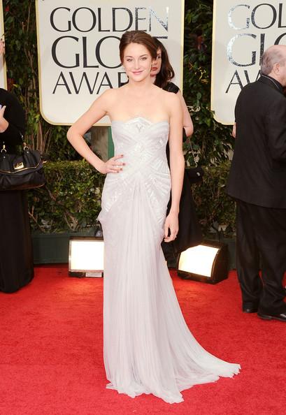 Shailene Woodley in Marchesa ai Golden Globe 2012