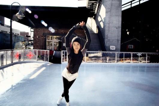 Vera Wang pattina sul ghiaccio