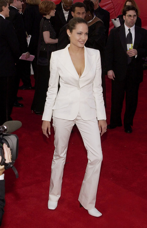 Angelina Jolie agli Oscar 2001 Photo via Newscom