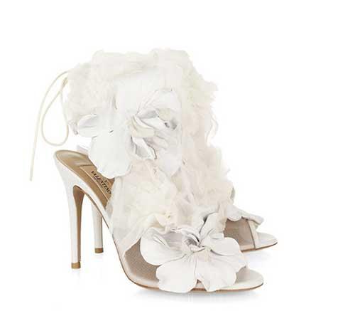 Sandali sposa Valentino con tulle