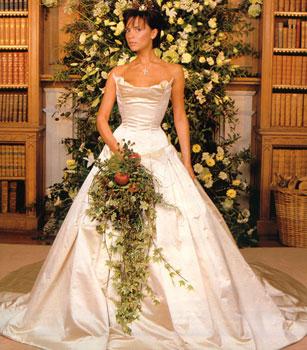 Victoria Beckham in abito da sposa Vera Wang