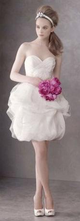 Abito da sposa corto Spring 2012 White Vera Wang