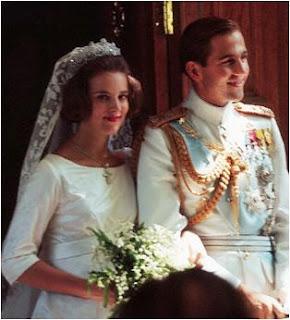 Re Costantino II di Grecia e la Principessa Anna Maria di Danimarca