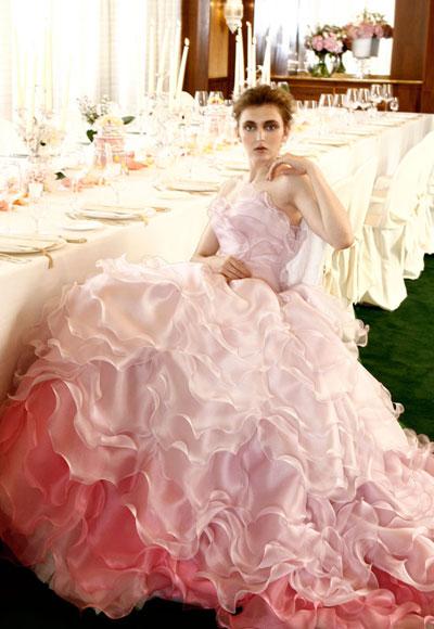 abito da sposa rosa Atelier Aimee 2012 Romantica