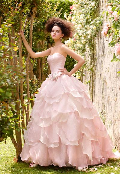 abito da sposa rosa Atelier Aimèe Collezione Villa Carlotta