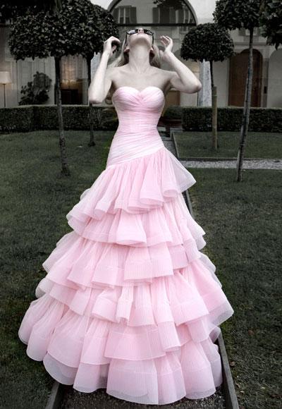 abito da sposa rosa Atellier Aimee 2012 collezione Diva