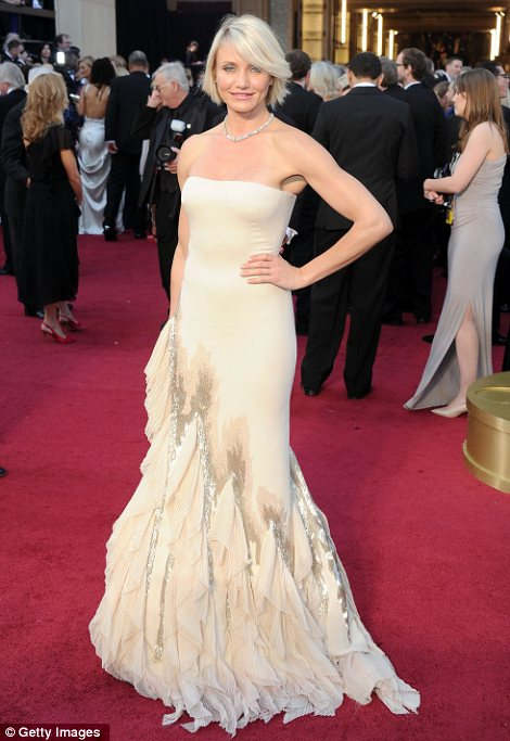 Cameron Diaz in Gucci agli Oscar 2012 - Foto Getty