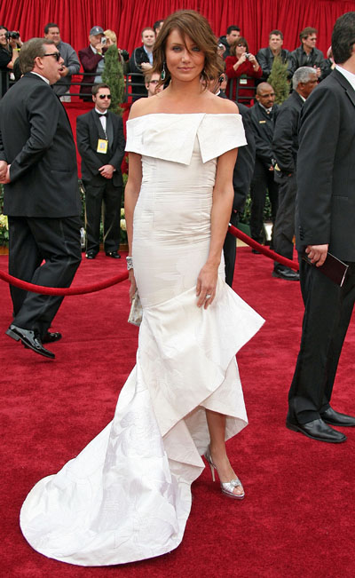 Cameron Diaz agli Oscar 2007 in Valentino - Foto Getty