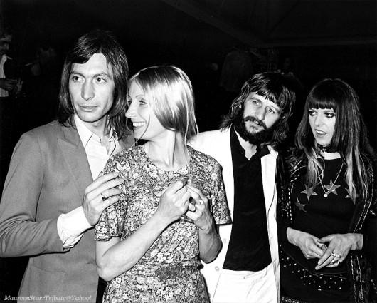 Charlie Watts con la moglie Shirley Ann Shepherd e Ringo Starr
