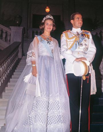 Re Costantino II di Grecia e la Principessa Anna Maria di Danimarca - Foto Corbis