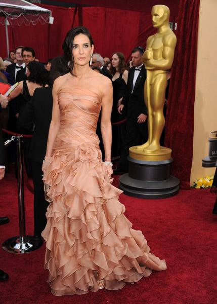Demi Moore in Atelier Versace agli Oscar 2010