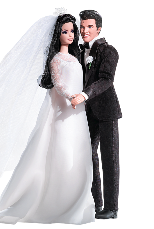 Elvis and Priscilla Barbie Doll