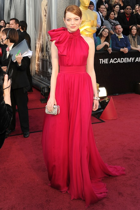 Emma Stone agli Oscar 2012 - Foto Getty