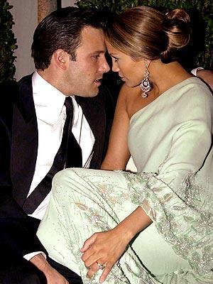 Jennifer Lopez con Ben Affleck agli Oscar 2004