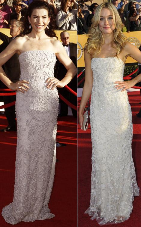 Julianna Margulies e Katrina Bowden ai SAG Awards 2012