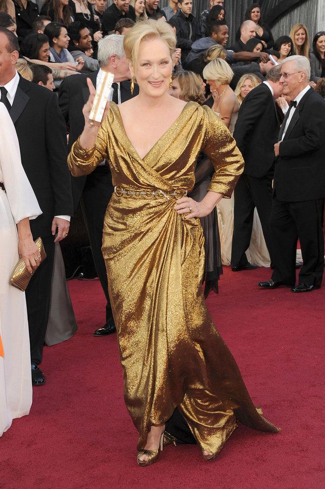 Meryl Streep agli Oscar 2012 - Foto Getty
