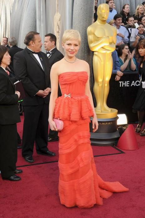 Michelle Williams agli Oscar 2012 - Foto Getty