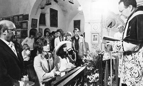 Nozze Mick e Bianca Jagger