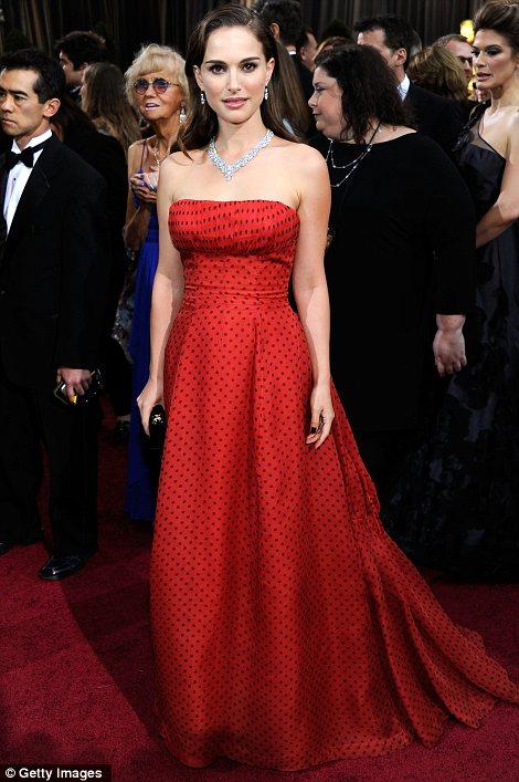 Natalie Portman agli OScar 2012 - Foto Getty