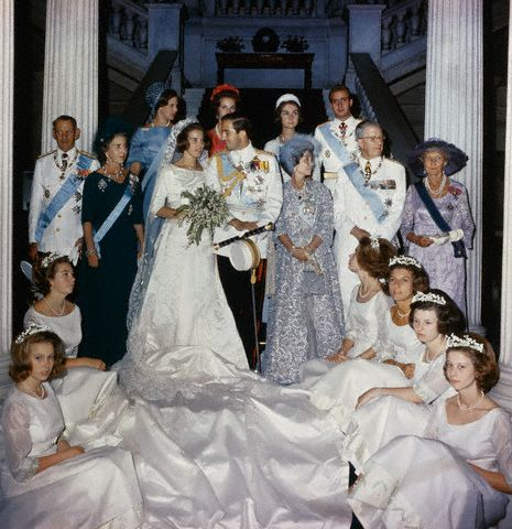 Nozze tra Re Costantino II di Grecia e la Principessa Anna Maria di Danimarca