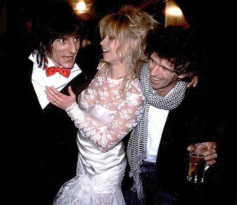 Ronnie e Jo Wood con il testimone Keith Richards