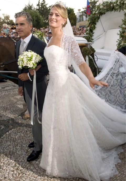 La Principessa Tatiana di Grecia e Danimarca con il patrigno Attilio Brillembourg - Foto Rex Features