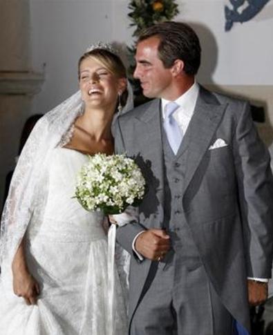 Nozze tra il Principe Nikolaos e Tatiana Ellinka Blatnik - Foto Reuters