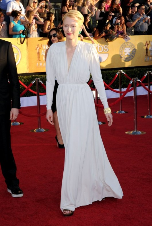 Tilda Swinton in Lanvin ai SAG Awards