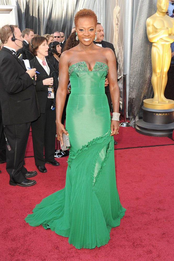 Viola Davis agli Oscar 2012 - Foto Getty