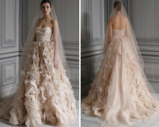 Vestiti da sposa color cipria