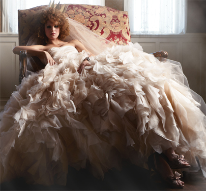 abito da sposa rosa Waltz Platinum Collection Spring 2012 by Monique Lhuillier prezzo 12.600 sterline